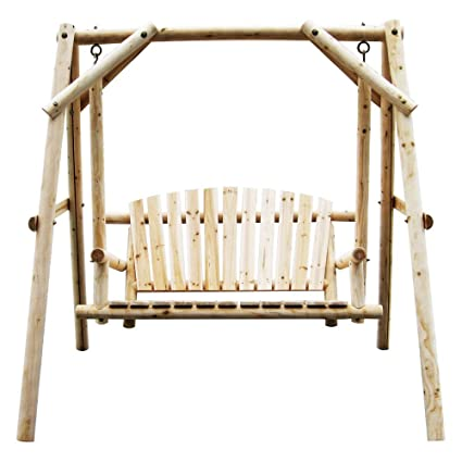 Amazon Com American Furniture Classics Log Swing Natural Garden