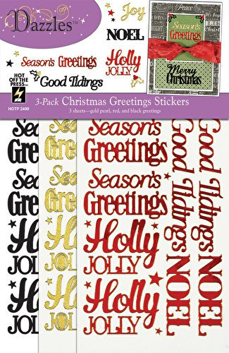 Stars Dazzle Stickers (Hot Off The Press - Christmas Greetings Dazzles Stickers (3-pack))
