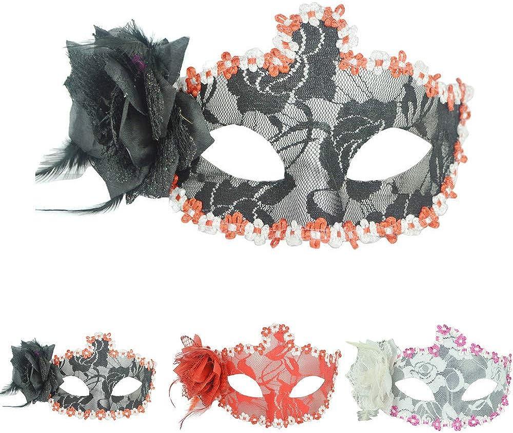 SUDADY - Máscara de Encaje Sexy para Mujer, Cosplay, Disfraces ...
