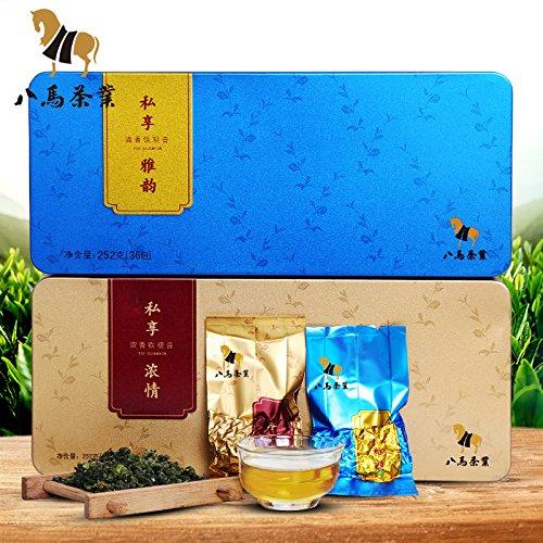 Bama tieguanyin 八马茶叶 安溪铁观音清香型茶叶新茶 小清新1号铁观音252克 Eight horse tieguanyin FOOD CO