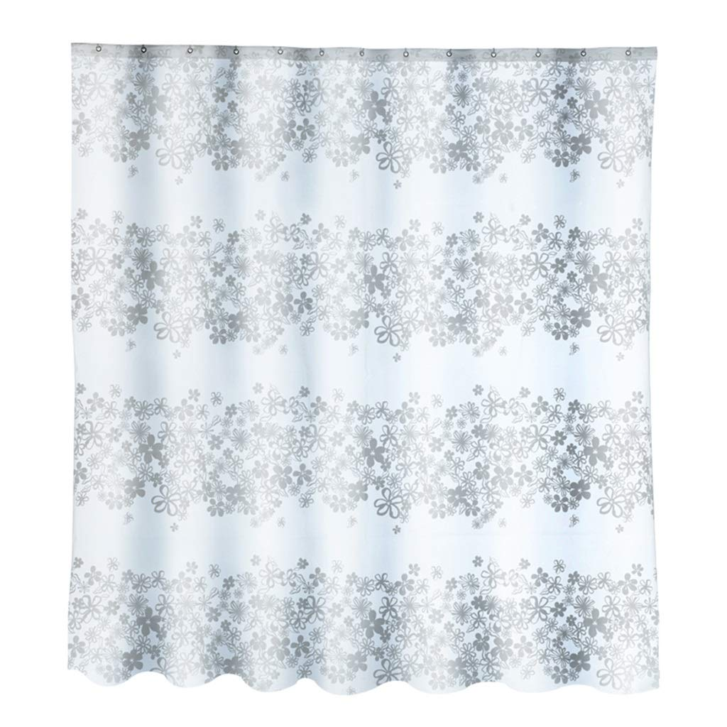 Curtain Thickened Waterproof Mildew Shower Curtain, Bathroom Curtain Bathroom Shower Curtain Door Curtain Metal Buttonhole Shower Equipment (Size : 22m)