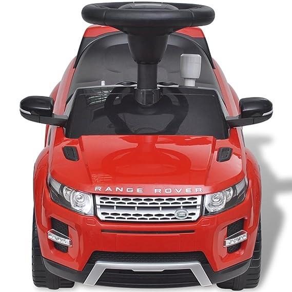 vidaXL Coche de juguete rojo con música, modelo Land Rover 348 juego niño infantil: Amazon.es: Juguetes y juegos