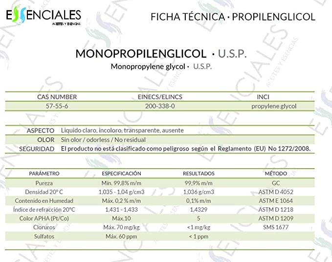 Propilenglicol USP - Pureza Certificada - 30 ml - PG Base