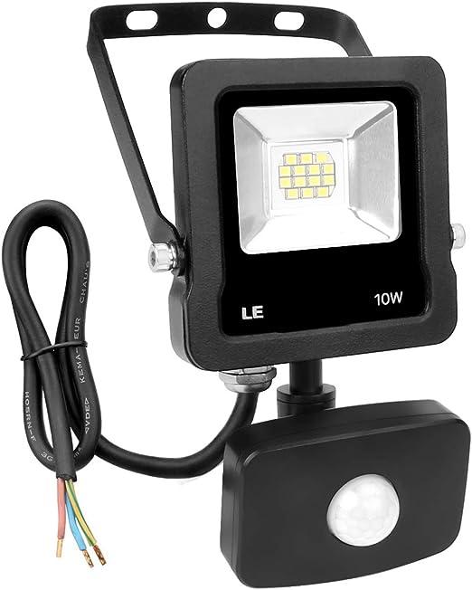 LE Foco Proyector Led exterior con Detección de Movimiento, 10W ...