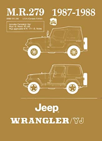Amazon 1987 1988 jeep wrangler yj shop service repair manual 1987 1988 jeep wrangler yj shop service repair manual book engine electrical publicscrutiny Choice Image