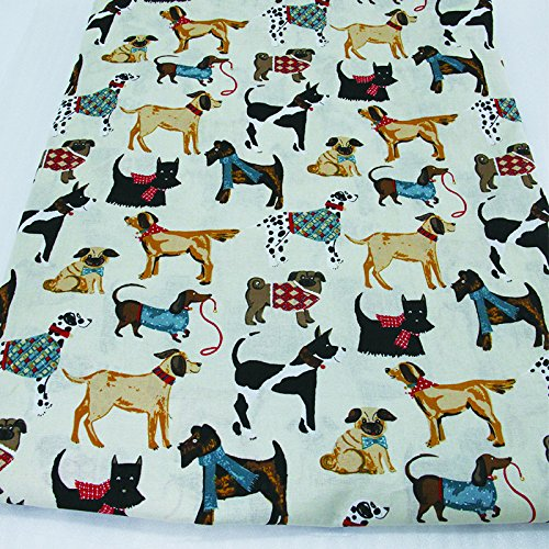 50X147Cm Various Dogs Printed Cotton Fabric For Tissue Kids Bedding Textile For Sewing Tilda Doll, Diy Handmade Materials