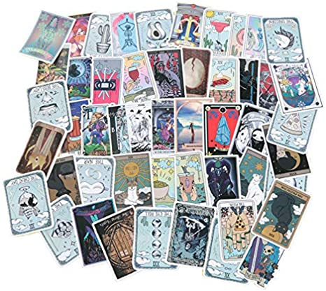 Details about  /60 Pcs TAROT Stickers For Wall Decor Fridge Motorcycle Bike Luggage Suitcases