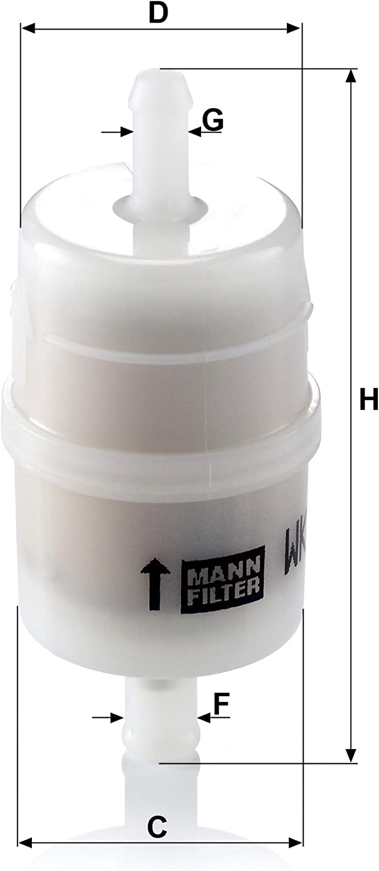 Original Mann Filter Kraftstofffilter Wk 32 6 Für Pkw Auto