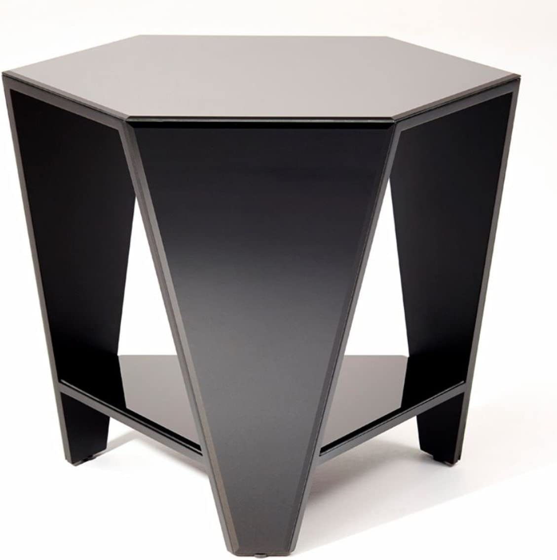 Casa Padrino Side Table With Black Mirror Glass 59 X 51 X H 49 Cm Designer Furniture Amazon Co Uk Kitchen Home