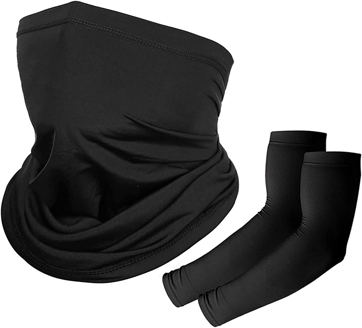 Extra 1 Pair Cooling Sleeve Fycert Neck Gaiter Balaclava Masks Anti UV Wind Dust