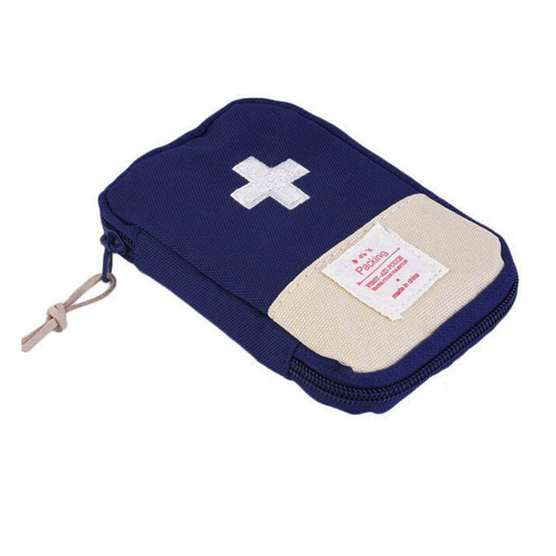 Finance Plan Mini Outdoor Camping Travel Response Case Portable First Aid Kit Bag Pill Pouch (Sapphire Blue)
