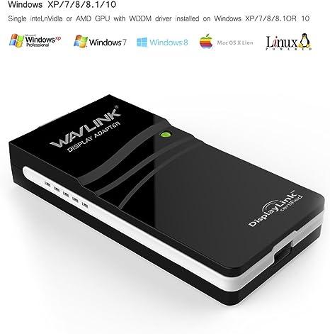 Compatible con Windows 10//8.1//8//7//XP WAVLINK Cable USB 3.0 a VGA Hembra para Tarjeta de v/ídeo Externa Adaptador USB a VGA