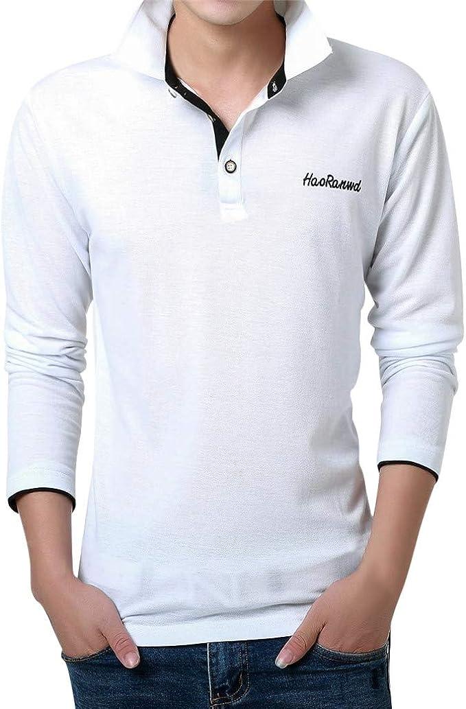 La Chiesa Linee guida Preso in prestito  HULKY Polo da Uomo Camicie Vendita Casual Manica Lunga/Corta Slim Fit Basic  Estate Loose T-Shirts Tops: Amazon.it: Abbigliamento