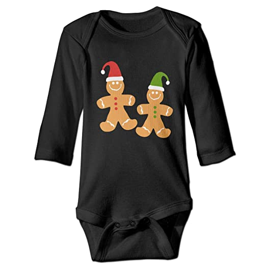 0f5f939355 NMDJC CCQ Gingerbread Man Merry Christmas Baby Bodysuit Lovely Onesie Soft  Outfits