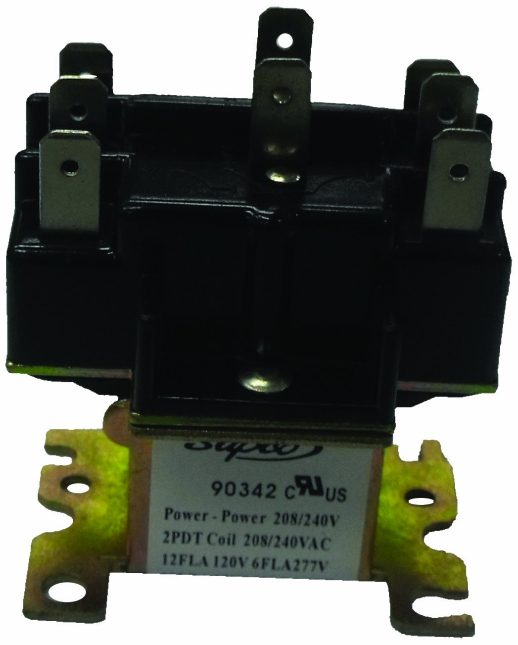 Supco 90341 General Purpose Switching  Relay, 110/120 V Coil Voltage, Double Pole Double Throw Contacts