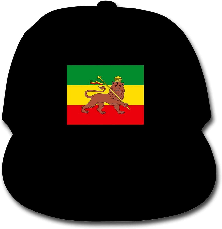 minB Rastafarian Flag of Ethiopia Lion of Judah Boys Adjustable Baseball Hat Kids Baseball Cap