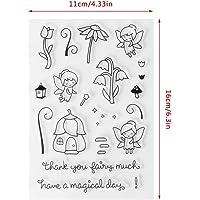 HEALLILY 6 Piezas de Silicona Sello Claro Flor P/ájaros Palabras Alfabeto Sello Transparente Diy Artesan/ía Sellos Sellos Bloques para Diy Scrapbooking /Álbum de Fotos Decoraci/ón Patr/ón Aleatorio