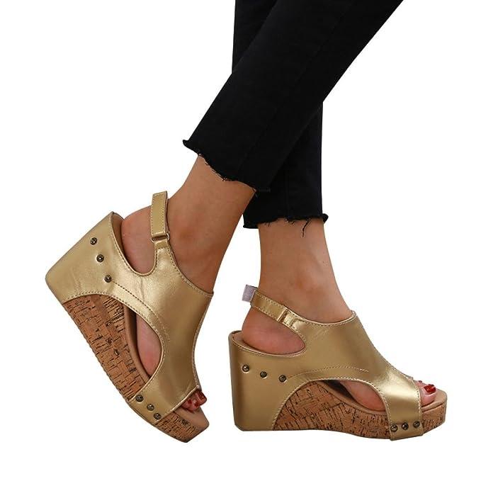 2018 Zapatos Cuña Fiesta Polp Tacon Sandalias Mujer Verano uK1JcTlF3