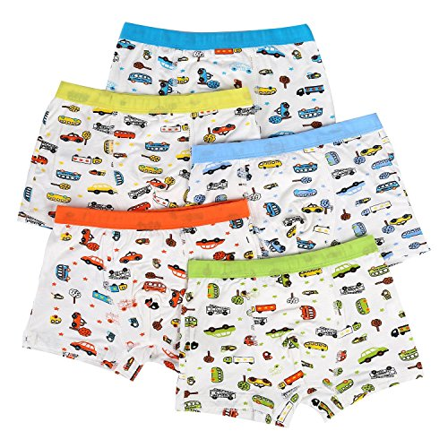 Bala Bala Boy's Boxer Brief Multicolor Underwear (Pack Of 5) (XL/Car Underwear, (Pack Of 5)/Car Underwear) by Bala Bala (Image #1)'