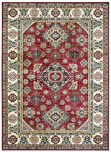United Weavers Royalton Area Rug 853 10730 Richmond Red Cornered Diamonds 2' 7