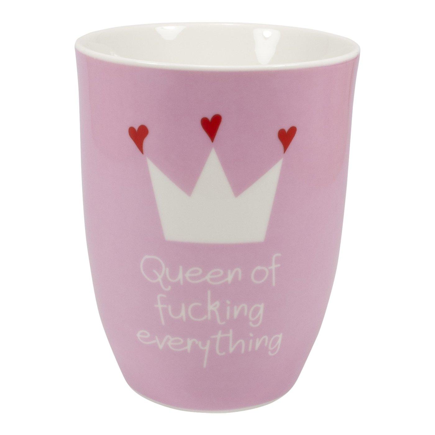 Frühstücksset Queen Queen Queen of fucking everything , 3 Teilig Brettchen Schale und Becher B010VABQAG Kombiservice d564ec