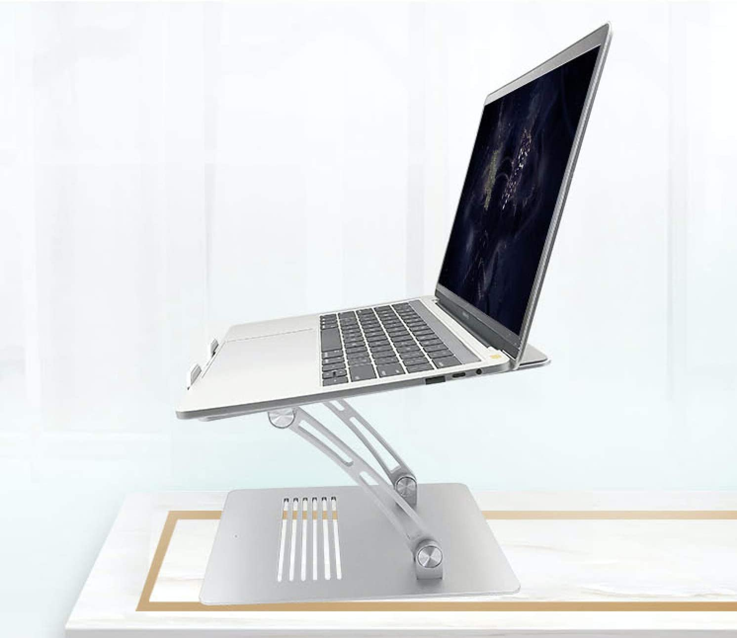 Height Adjustable Laptop Stand by SOPHIE&TOBY. Ergonomic Office Product to Prevent Neck Pain, Provide Better Posture. Perfect for Working from Home. Fit Models of Laptop up to 17 inches Screen Size.