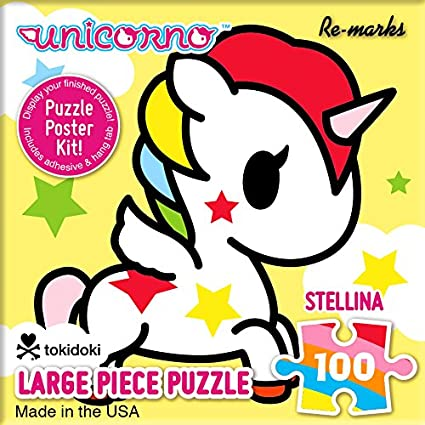Re-Marks TokiDoki Unicorno 100 Piece Cube Puzzle