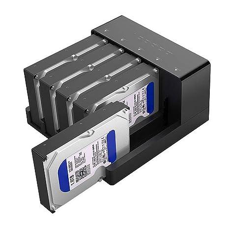 YPKZW 5 Bay Super Velocidad de USB 3,0 HDD estación de ...