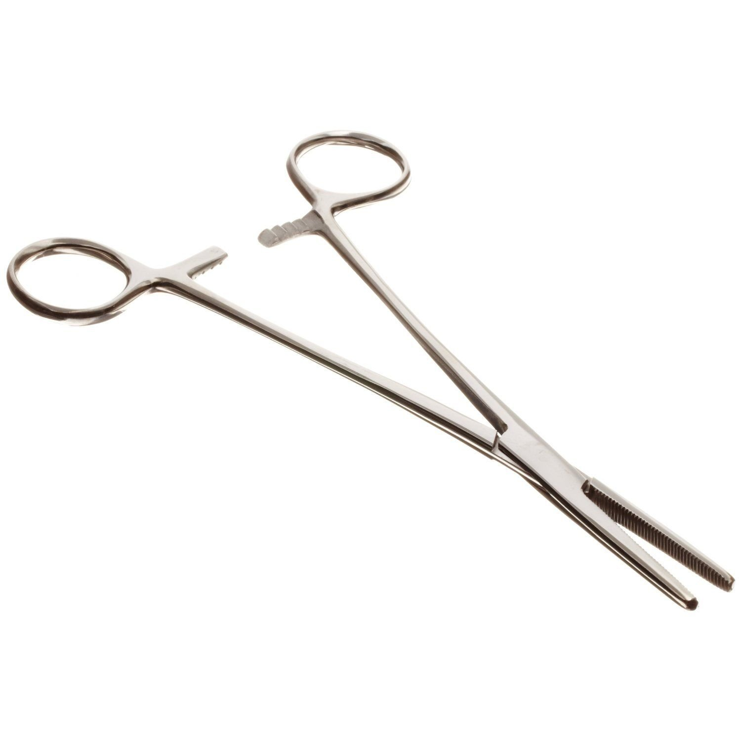 Set of 2 Pairs 8'' Straight Hemostat Forceps Locking Clamps - Stainless Steel