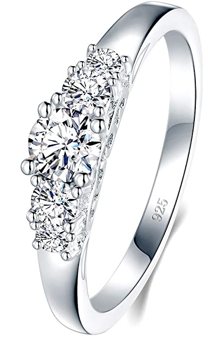 Elements CZ 925 Sterling Silver Ring Size M
