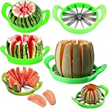 Comtechlogic CM-5077 Large Watermelon Portioner Stainless Steel Multifunctional Knife with Handle for Melons, Watermelon, Pineapple, Melon Cantaloup, Honeycomb