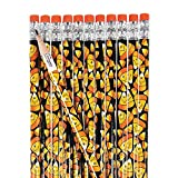 Fun Express - Smile Face Candy Corn Pencils (2dz) for Halloween - Stationery - Pencils - Pencils - Printed - Halloween - 24 Pieces