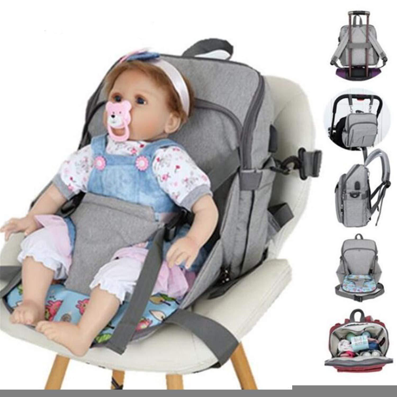 BABIFIS Bolsa de beb/é Bolsa de Maternidad para beb/é Bolsas Grandes para pa/ñales Mochila para mam/á Panal Mochila 2 en 1 Mam/á