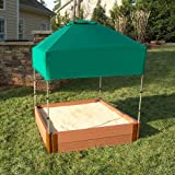 Kids Sandbox Cover And Canopy - 4ft Square Outdoor Playhouse Sand Box Cover - Waterproof & Weather Resistant - Canopy Protects Your Child's Skin From UV Rays NEW
