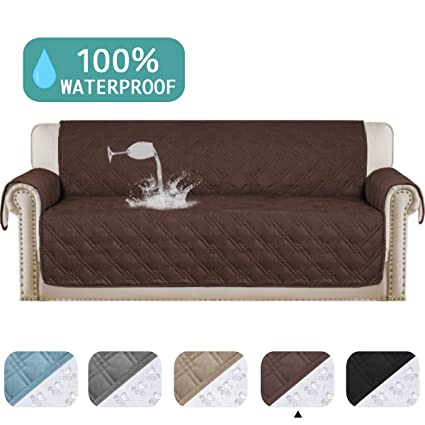 Waterproof Sofa Cover Protector for Living Room Deluxe Couch Cover Perfect for Leather Couch Machine Washable Sofa Protector Features Protect from ...
