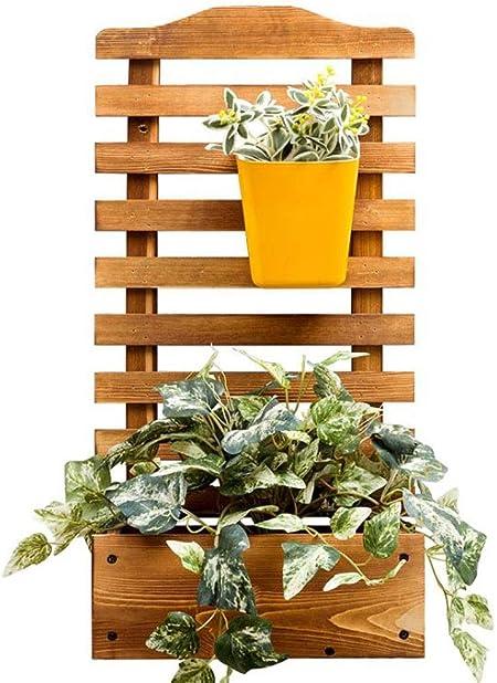 LYN-MEMORY Escalera para Plantas, Soporte de Planta de Madera montado en la Pared Soporte de Jardinera Decorativa Estante para macetas de jardín para el hogar, al Aire Libre en el Interior: Amazon.es: