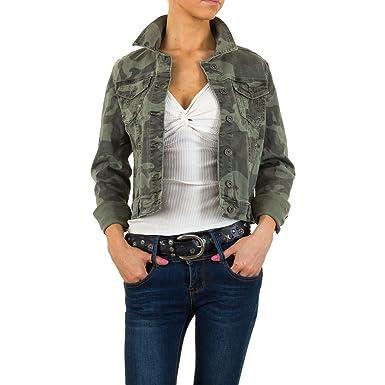 Für Bei Jeans Camouflage Ital Jacke DamenGrün In GrS CdWxBroe
