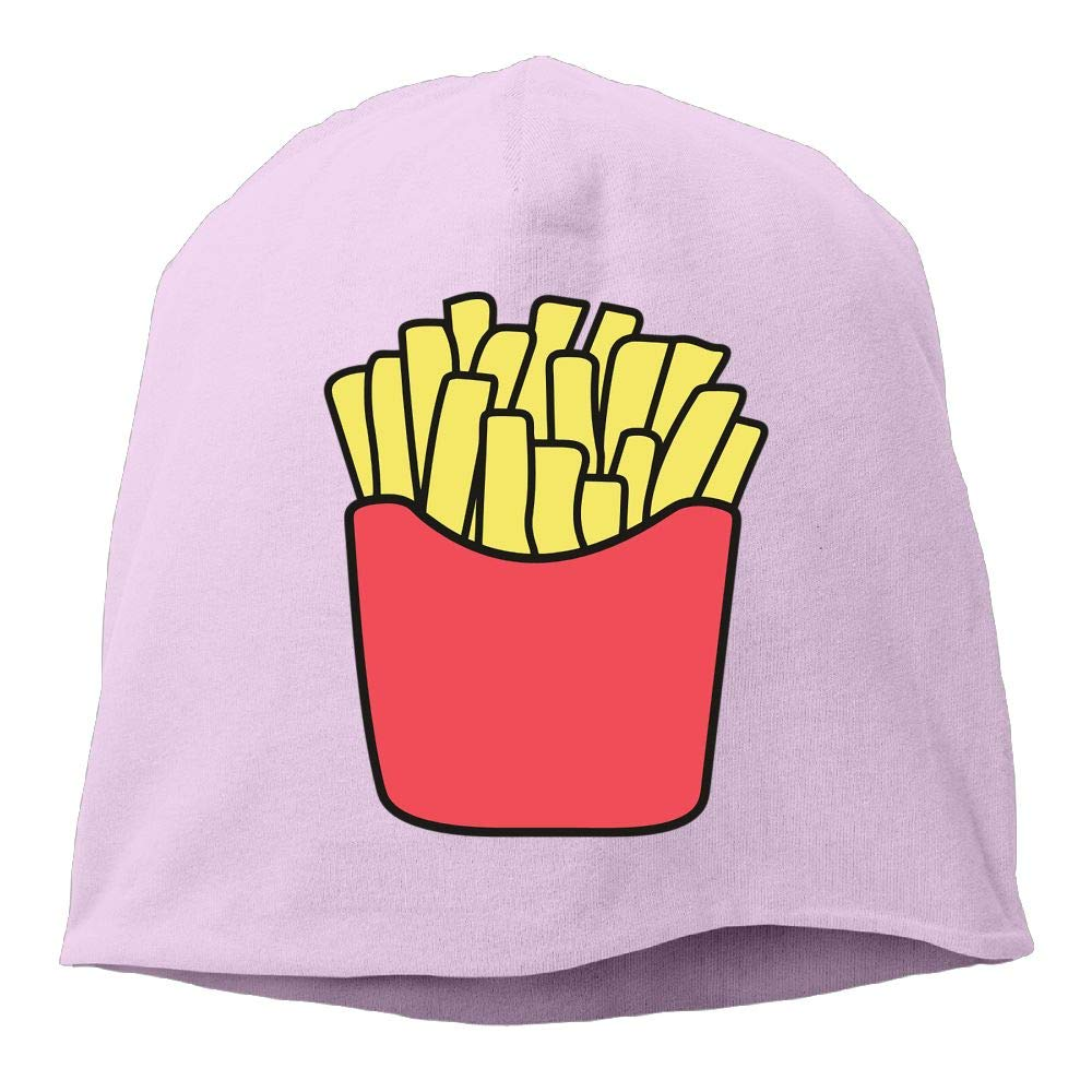 Janeither Headscarf French Fries Images Hip-Hop Knitted Hat for Mens Womens Fashion Beanie Cap