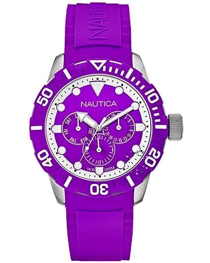 Nautica Reloj de Cuarzo Para Mujer A13642G Nsr 101 Multifunción Sport Precio Outlet: Amazon.es: Relojes