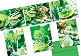 72 Note Cards - St. Patrick's Day Party - 6 Designs - Green Envelopes Included