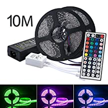 LED Strip Lights Kit, OXOQO Led Tape Light SMD 5050 RGB 300 LEDs Flexible Rope Lights IP65 Water-Resistant Color Changing LED Strips DIY Decoration (10 M)