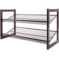 Tenozek 2-Layer Iron Oblique Plane Shoe Rack Chromeplate