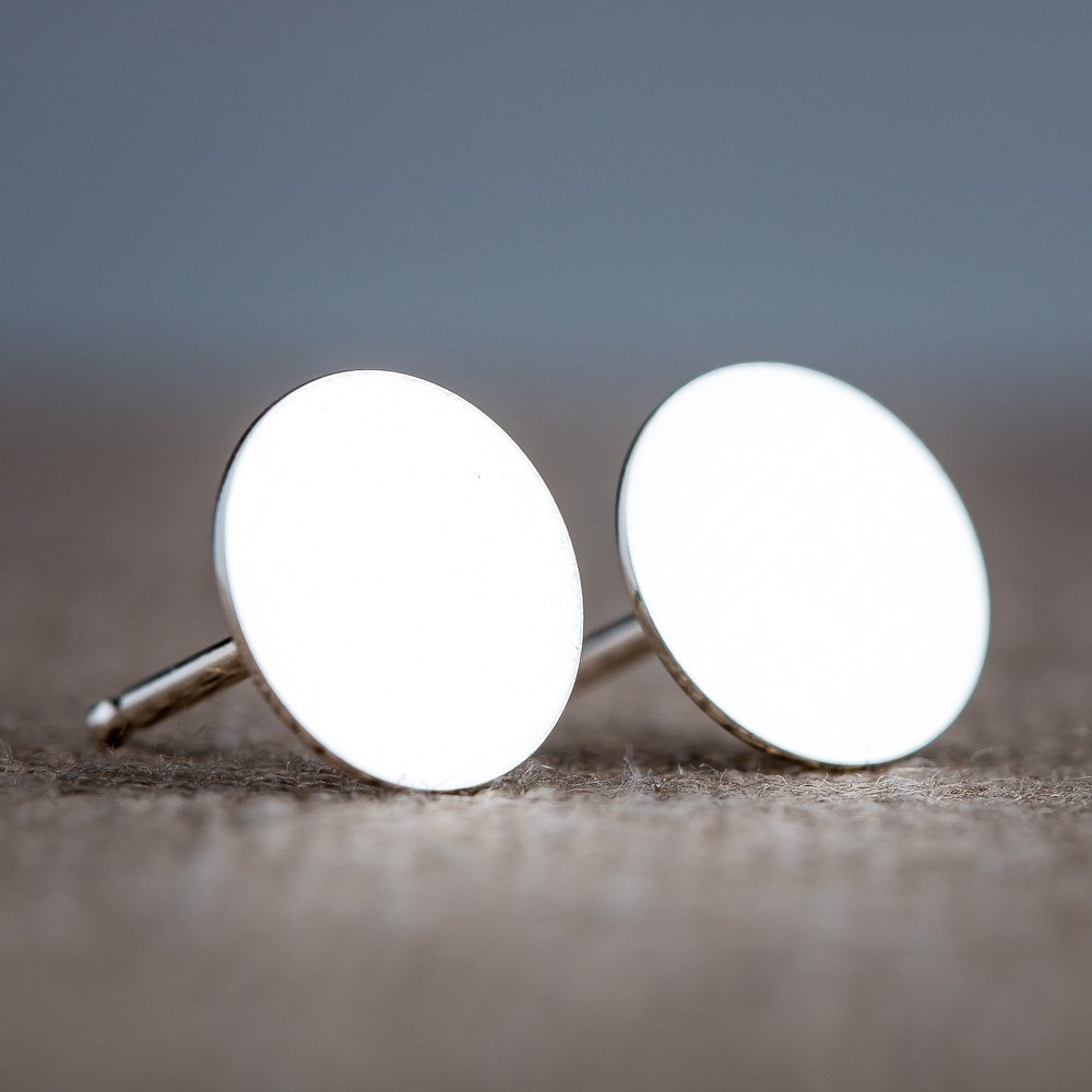 men flat fake p stud cheater s plugs plug disc studs earrings