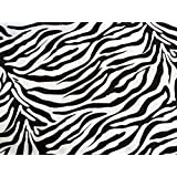 PRESTIGE FABRICS Black and White Zebra Animal Print polyester cotton FABRIC bunting duvet quilt crafts dress dressmaking deco Fabric - by the Metre by Prestige Fashion UK Ltd