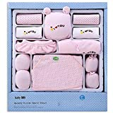 M&C Autumn and winter cotton baby clothes gift boxes boys girls clothes , pink