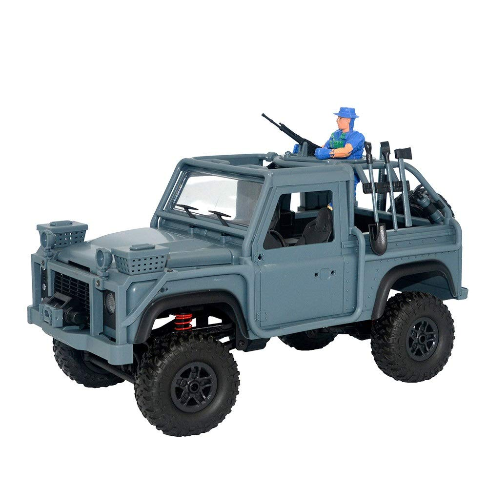 CreazyBee 1:12 2.4G 4WD Crawler RC Car Cavalry Jeep Vehicle with LED Light RTR (Dark Blue) by CreazyBee