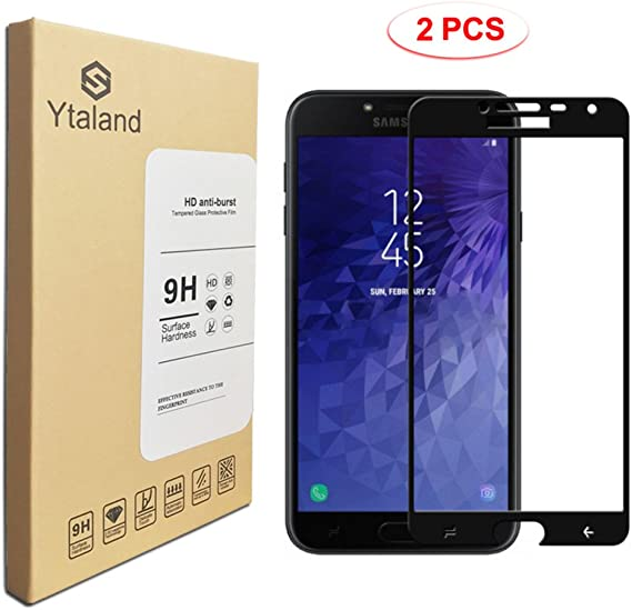 Tempered Glass for Samsung Galaxy J4 Screen Protector Bubble Free 2018 Easy to Install with Lifetime Replacement Warranty 2-Pack KATIN Galaxy J4 2018 Screen Protector -