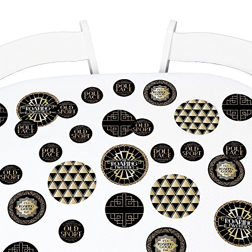 Big Dot of Happiness Roaring 20's - 1920s Art Deco Party Giant Circle Confetti - Jazz Party Decorations - Large Confetti 27 Count