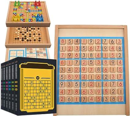 Tablero De Juego De Madera Sudoku Juguetes Educativos Inteligencia De Escritorio Juegos Familiares Número De Madera Del Rompecabezas De Sudoku Juego De Mesa For Niños Adecuado Para Juegos Familiares: Amazon.es: Hogar