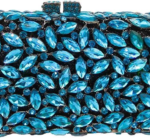 LAAL La Nouvelle Couleur Diamant Section Carrée d'embrayage Soirée Embrayage Sac À Main De Femmes Sac À Main en Cuir Matériel Sac À Bandoulière 20.5X8.5X5cm Personnalité